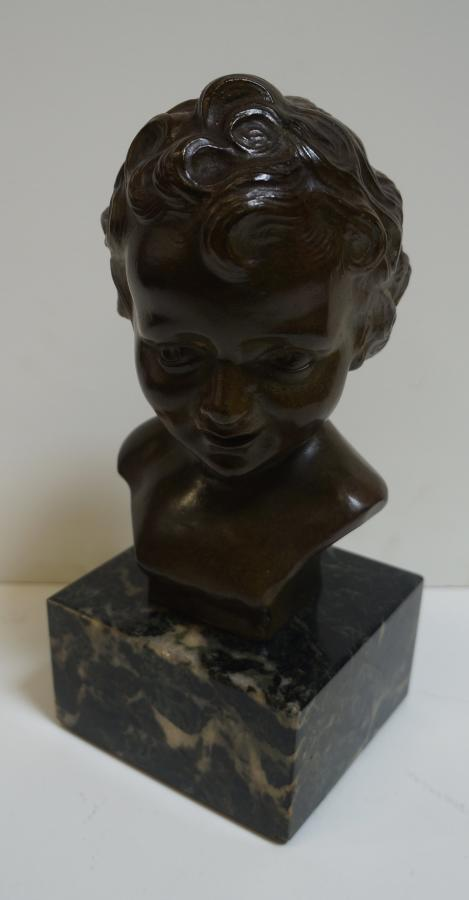 French Bronze On A Marble Base