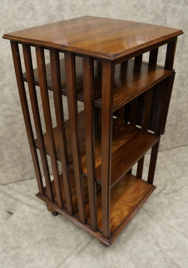 revolving rb ixlib items vintage oak ebth bookcase