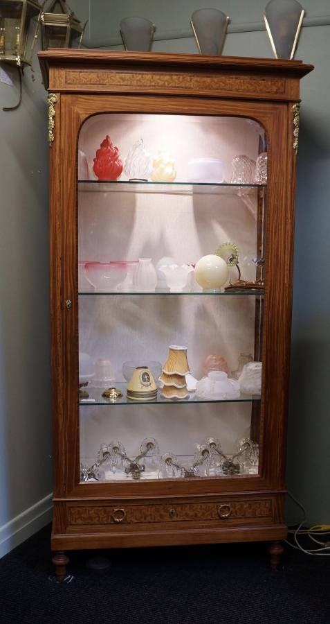 French Single Door Display Cabinet Seanic Antiques