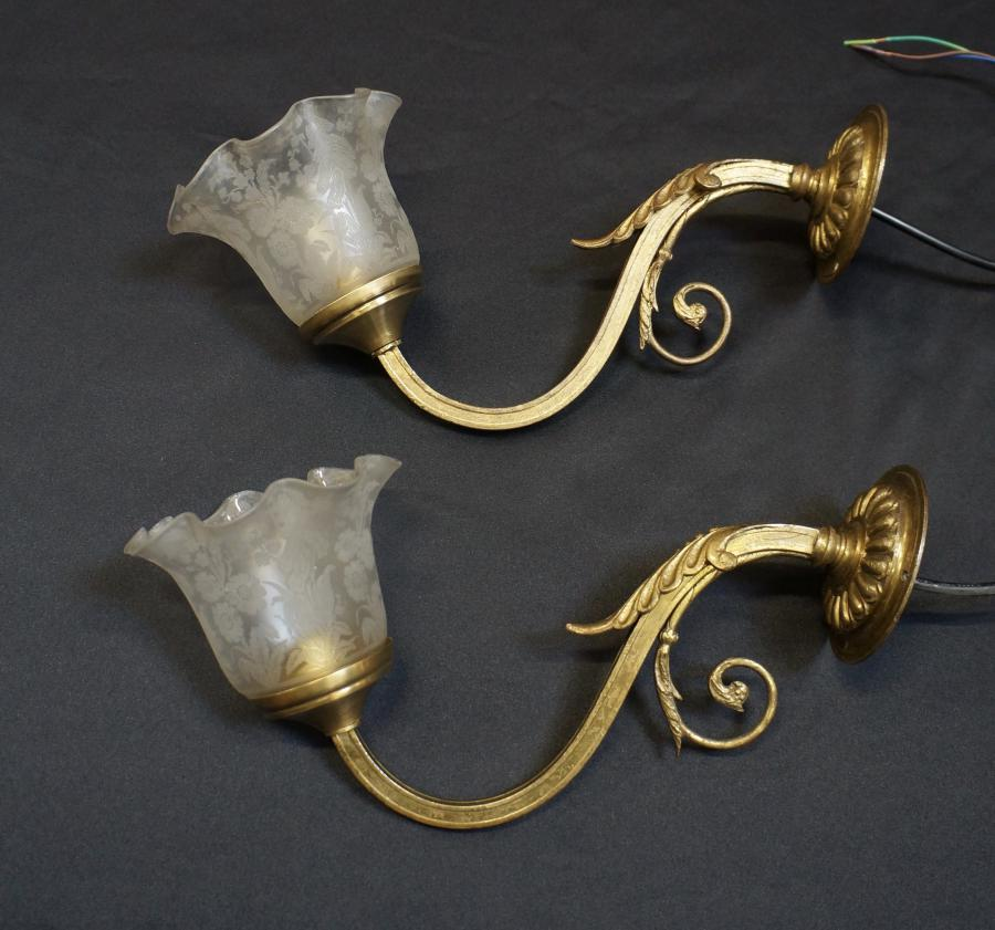 Pair of late victorian wall lights seanic antiques pair of late victorian wall lights aloadofball Images