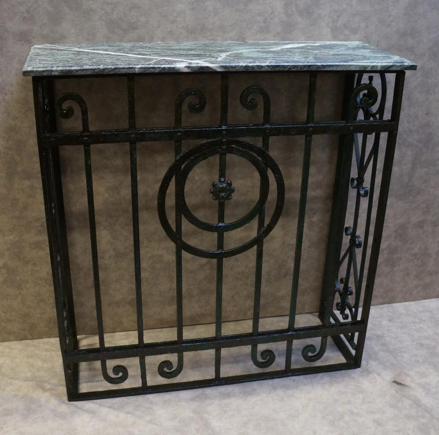 iron console table. Wrought Iron Console Table